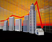 Business Bar Graph — Stock Photo