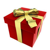 3d red gift box — Stock Photo