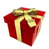 Caja de regalo roja 3d — Foto de Stock