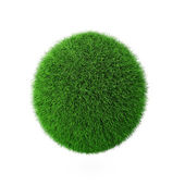 3d render of green grass ball — Stock Photo
