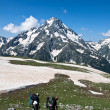Hikers in mountain wally. — Stock Photo #3868252
