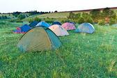 Campeggio tentes. — Foto Stock