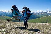 Happy hikers. — Stock Photo