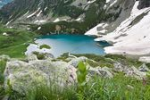 Mountain landscape with lake. — Stock Photo