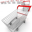 Shopping carts - 图库照片