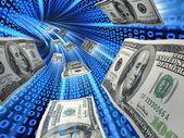 Elektronische überweisung über das internet — Stockfoto