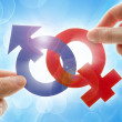 Royalty-Free Stock Photo: Gender symbols