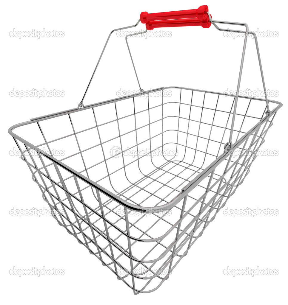 Shopping basket isolated on white — Stock Photo #3306443