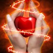 Royalty-Free Stock Photo: Heart in hands