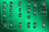Microcircuits — Stock Photo