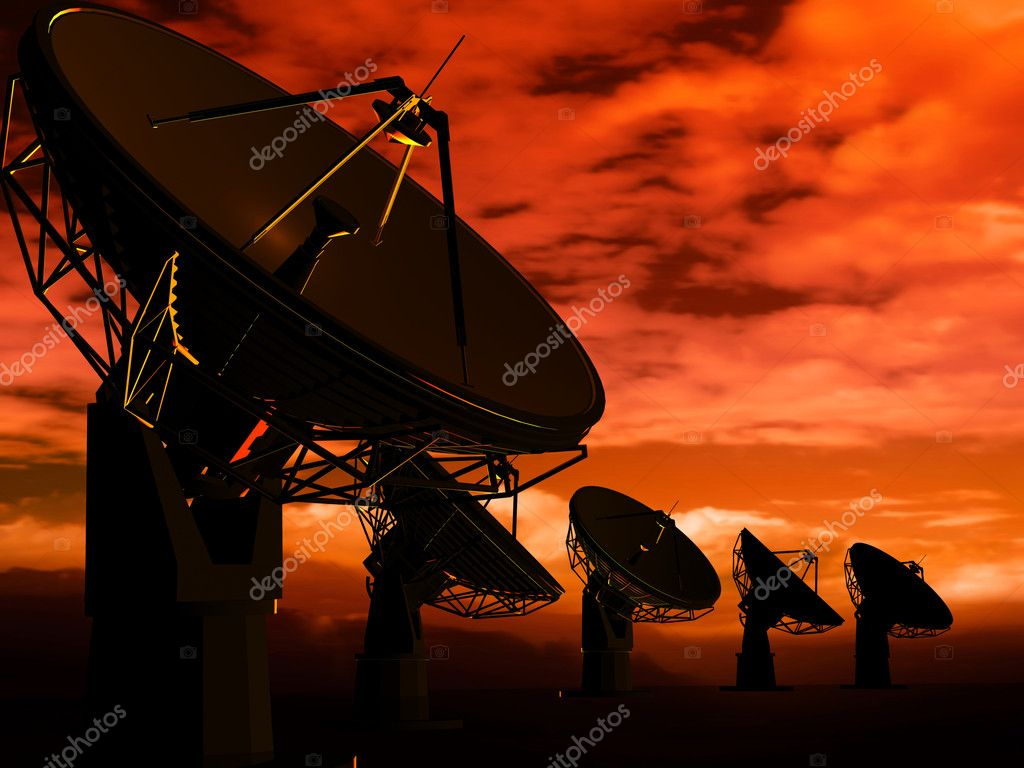 The radio-aerials on a background of the sky — Foto Stock #3546321