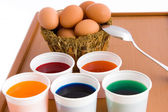 Eggs To Color — Stock Photo