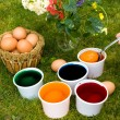 Royalty-Free Stock Photo: Coloring Eggs