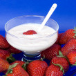 Bowl With Strawberries And Yoghurt — Stock Photo