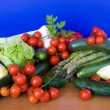 Table With Vegetables — Stock Photo