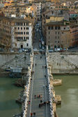 Sant'Angelo Bridge - Rome, Italy — Stock Photo