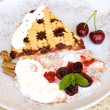 Tart With Sour Cherry Jam — Stock Photo