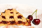 サワー チェリー ジャムのタルトのスライス — ストック写真