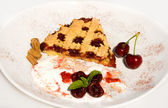 Recipes - Tart With Sour Cherry Jam — Stock Photo