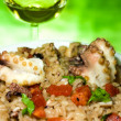 Italian Cuisine - Risotto With Octopus — Stock Photo