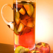 Royalty-Free Stock Photo: Jug With Sangria And Peaches