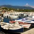 Stock Photo: Colorful Boats In Marina Di Campo Harbor