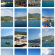 Collage With Elba Island Pictures — Stock Photo