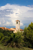Bell Tower Of Santa Maria Assunta Church, Telamon, Tuscany — Stock Photo