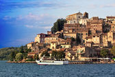 Passengers Ship On Bracciano Lake - Anguillara Sabazia, Italy — Stock Photo