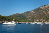 Boats In The Sea Of Elba Island — Stock Photo