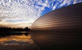 Solnedgång av nationella grand theater — Stockfoto
