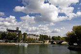 Scene of the Seine river,paris — Stock Photo