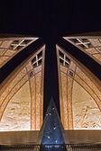 Vista notturna del monumento in pakistan — Foto Stock