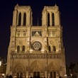 Night view  of  Notre Dame de Paris - Stock Photo