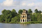 Escena de la torre de tortuga, hanoi — Foto de Stock