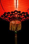čínské červené lucerny v noci — Stock fotografie