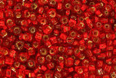 Red Seed Beads — Stock Photo
