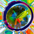 Colorful Reflections from a Marble - Stock Photo