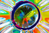 Colorful Reflections from a Marble — Stock Photo
