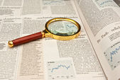 Focus on finance — Stock Photo