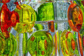 Colorful Glass Reflections — Stock Photo