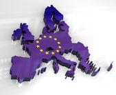 3d flag map of European union — Stock Photo