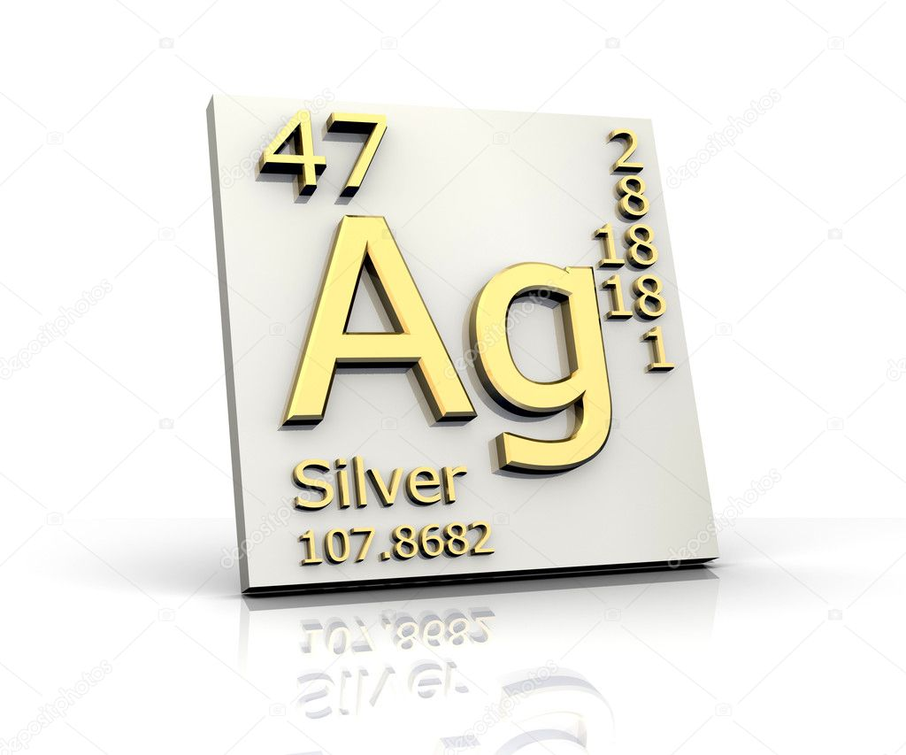 Silver form Periodic Table of Elements — Stock Photo ...