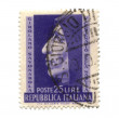 Stock Photo: Postage stamp from Italy dated 1950
