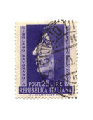 Postage stamp from Italy dated 1950 — Stock Photo