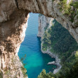 Natural Arch in Capri, Italy — Stock Photo