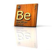 Beryllium - Periodic Table of Elements — Stock Photo