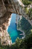 Natural Arch in Capri, Italy — Stock Photo