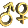 Male and female sex symbols (3D) — Stock Photo #3169660