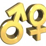 Male and female sex symbols (3D) — Stock Photo